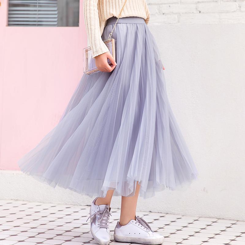 有赠品秋季2019新款韩版高腰中长款半身裙