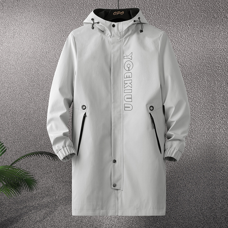 Medium length windbreaker mens 2020 fat autumn and winter no cashmere plus fat widened 7 super large 8xl casual jacket