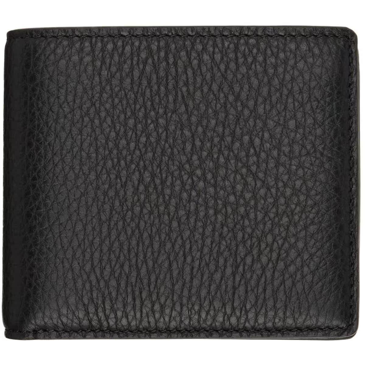代购Maison Margiela 黑色鹿皮双折钱包2021新款奢侈品复古包包