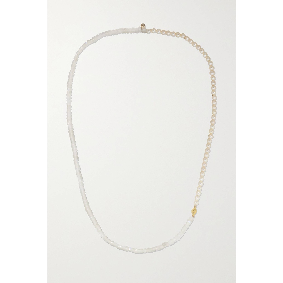 代购Sydney Evan 14K 黄金月长石珍珠项链女士2021新款奢侈品