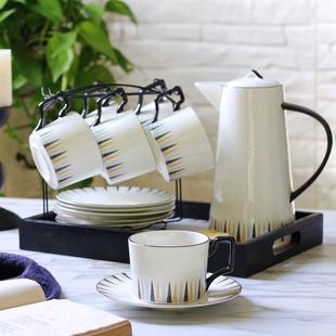 欧式骨瓷北欧茶具套装现代下午茶家用咖啡套具简约咖啡杯英式美式
