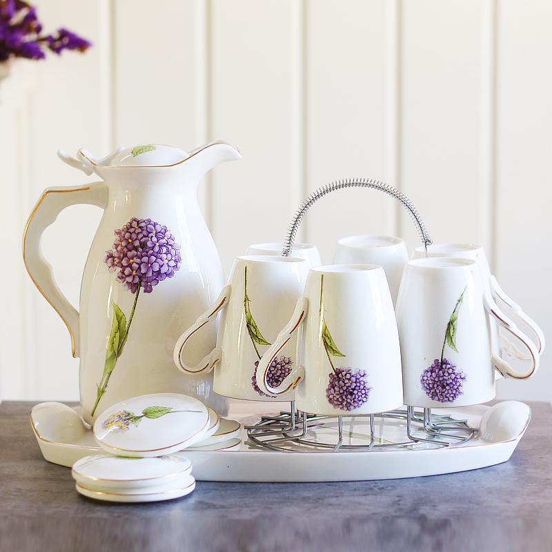 Континентальный керамика чашки напиток инструмент холодная вода горшок прохладно чайник домой вода отрицать сопротивление горячей чашка оснащен лоток гостиная