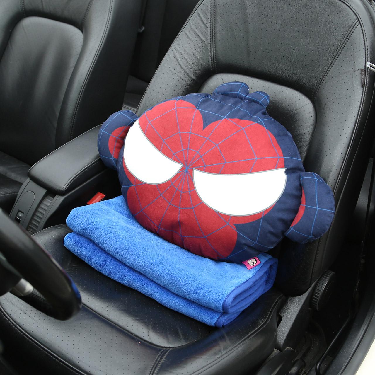 卡裏努努汽車抱枕被加厚毯子原創 車用卡通空調被四季