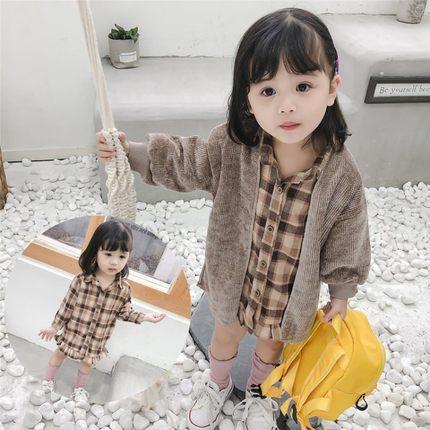 2019新款女童小童洋气套装6春装2外套童装4女宝衣服女宝宝3岁时髦