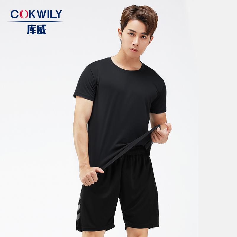 徒步户外健身套装男士短袖夏季t恤