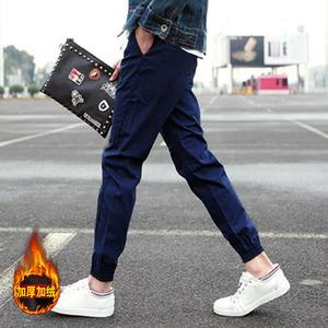 【加绒】弹性男士裤子修身束脚裤券后29.9元包邮