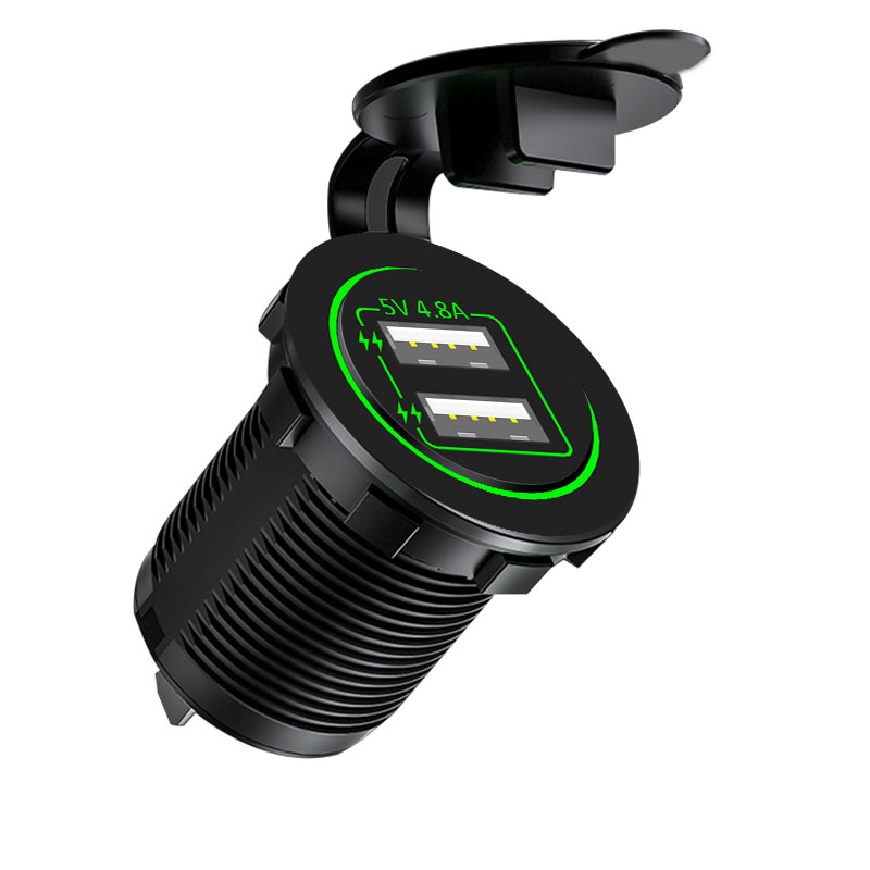 Car refit USB car charger car mobile phone charger 4.8A motorcycle add base accessories 12v2v universal