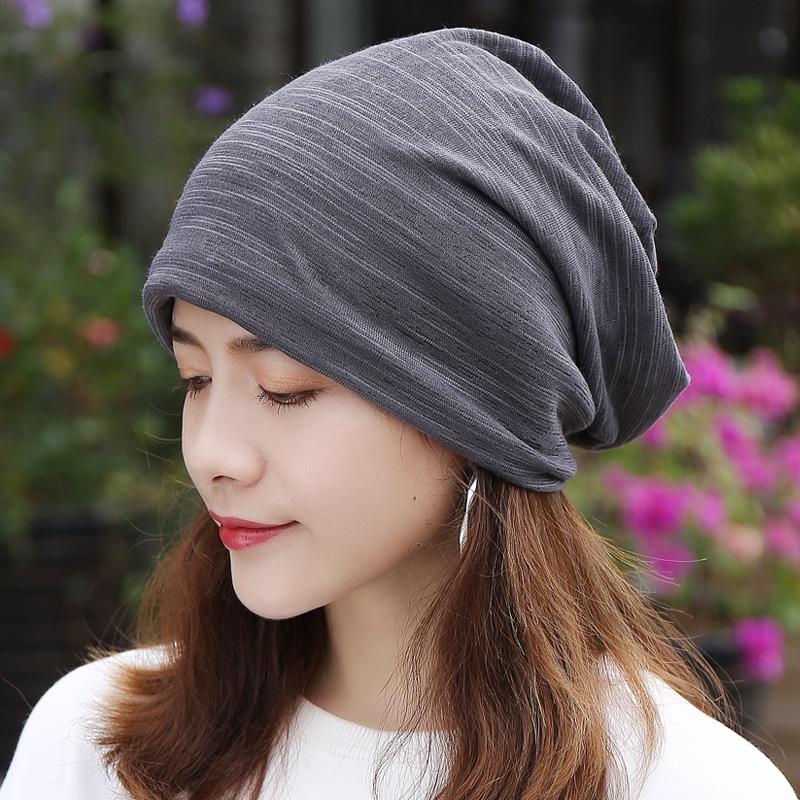 帽子女春秋薄款纯棉透气化疗帽光头睡帽月子孕妇帽蕾丝休闲包头帽