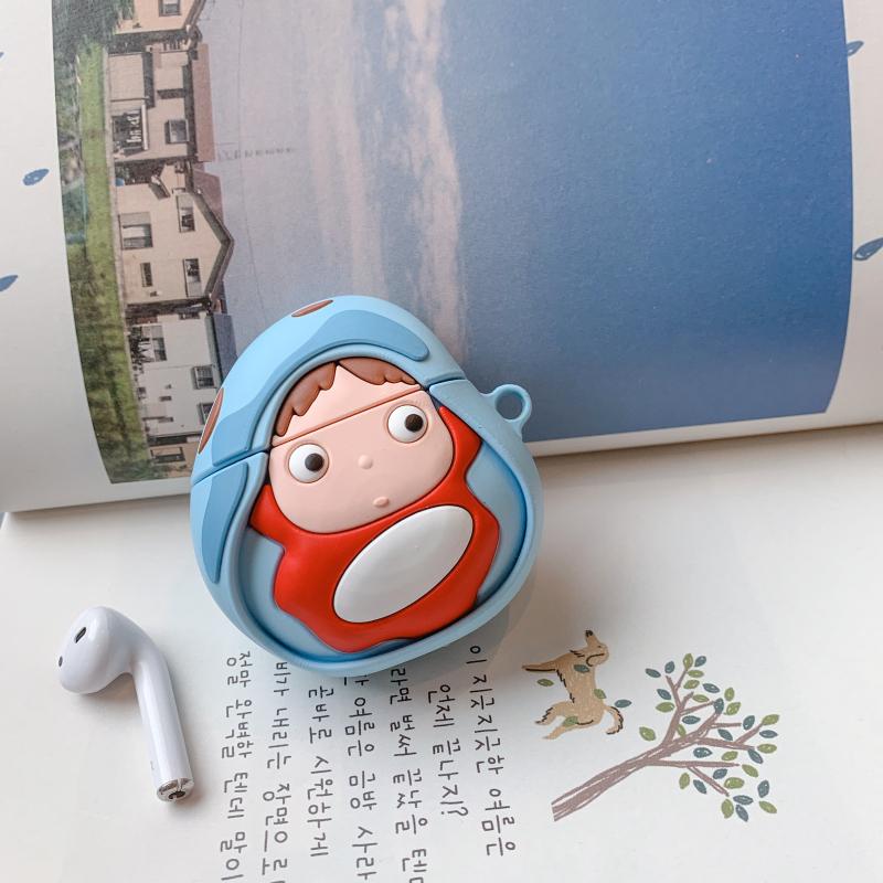 卡通可爱波妞苹果airpods1/2保护套硅胶软壳蓝牙耳机保护盒壳男女