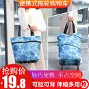 两用带轮购物袋买菜包旅行车拉车 欣隆买菜车手拉包折叠拖包伸缩式