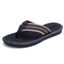 Lovers and men's flip-flops summer Korean version trend men's beach men's slippers student slippers