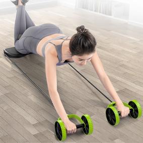 回弹腹部卷腹瘦手臂滚轮运动健腹轮