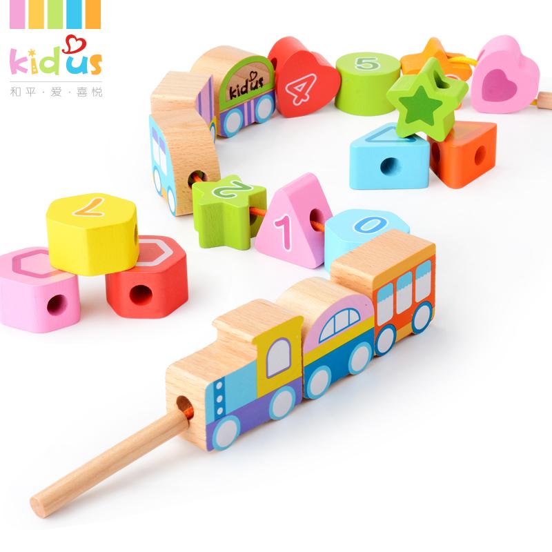 儿童玩具穿珠子1-2周岁男孩3串珠