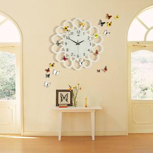 歐式創意鐘表掛鐘客廳家用時尚現代簡約大氣個性靜音臥室石英時鐘