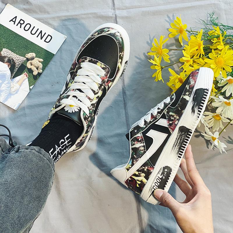 黑色板鞋男韩版潮流百搭空军一号男鞋GD权志龙同款小邹菊联名鞋子
