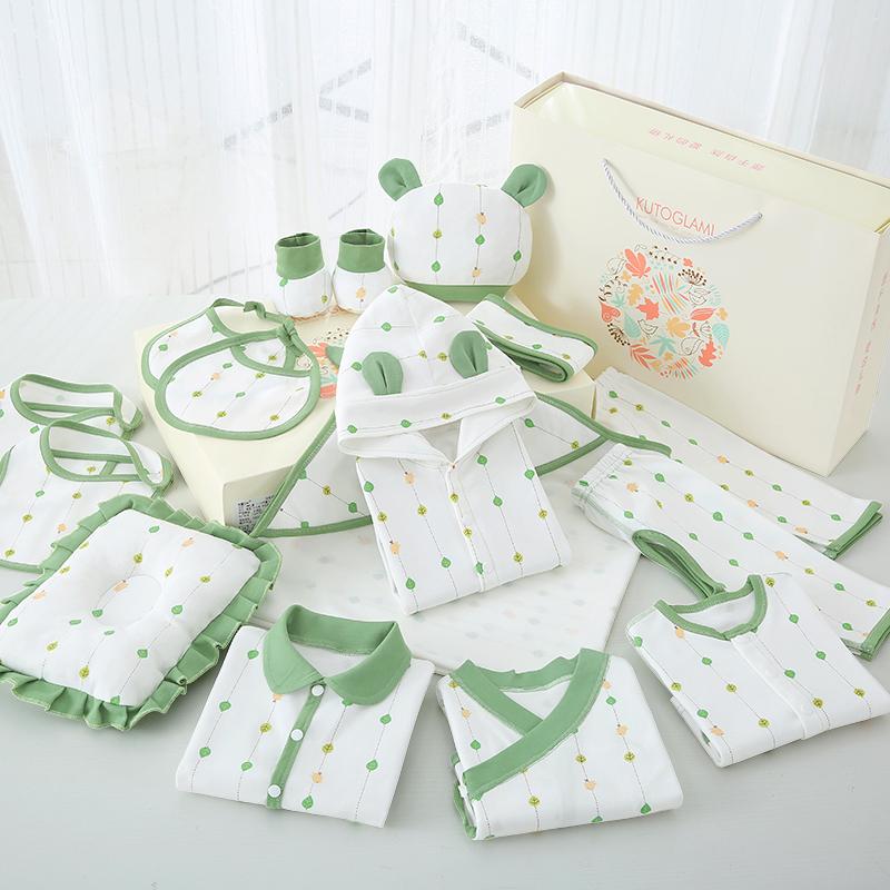 新生儿用品纯棉初生宝宝衣服秋冬套装高档礼盒送刚出生婴儿的礼物
