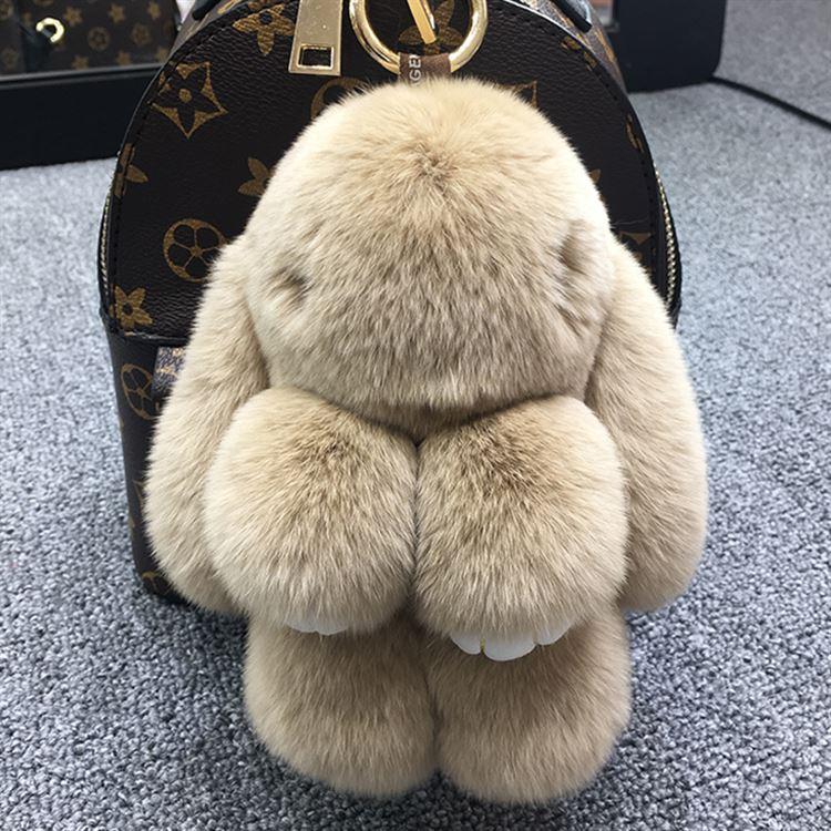 毛绒挂件装饰兔公仔绒毛玩具包包小白兔装死兔毛球手机垂耳兔獭兔