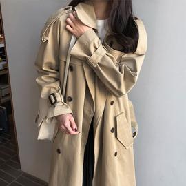 韩版中长款风衣外套女卡其色2019加棉新款ins流行宽松大码过膝潮图片