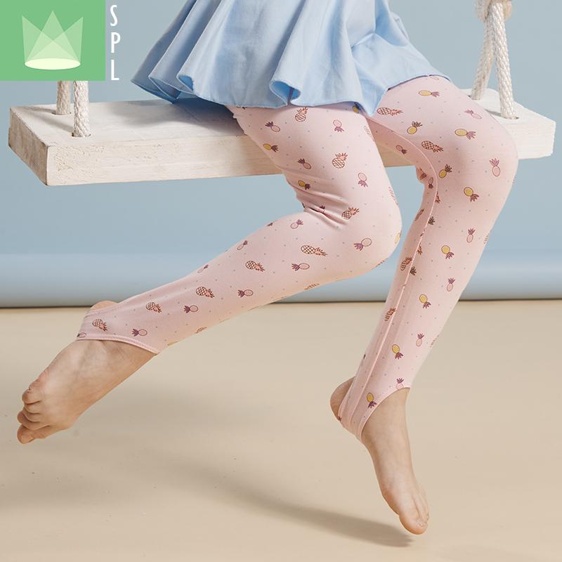 尚品琳儿童舞蹈袜加厚女童形体袜连脚袜幼儿白色连裤袜芭蕾舞袜子