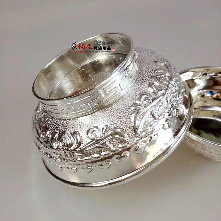 Серебряный шар Монгольский тост чаша Хада Серебряный шар Тост танцевальный шар 9 см сплав серебро Чаша
