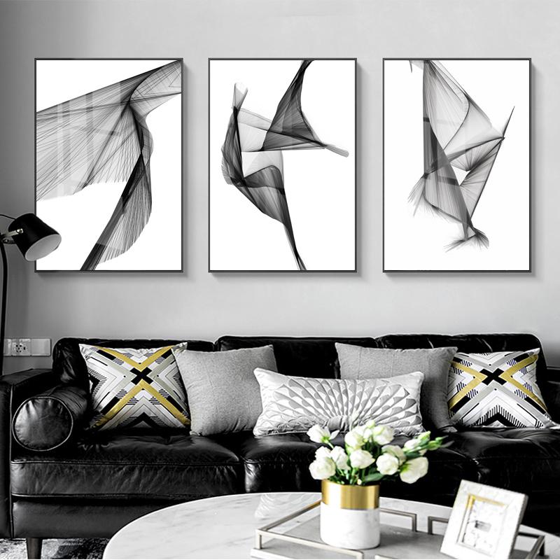 沙发背景墙现代简约组合客厅装饰画限5000张券