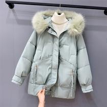 大码女装2020新款冬装加厚中长款棉衣200斤胖妹妹mm羽绒棉服外套