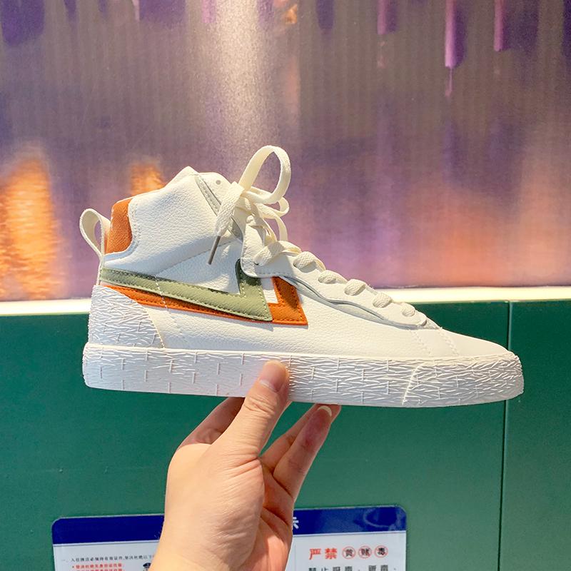 高帮韩版板鞋