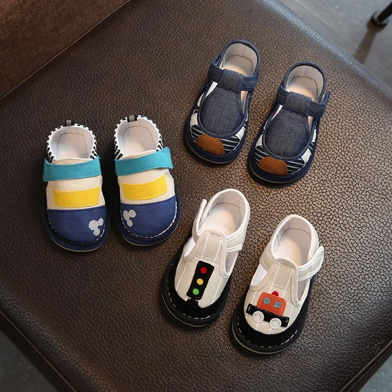 宝宝手工布鞋1-3岁儿童室内居家鞋秋千层底老北京布鞋男童学步鞋