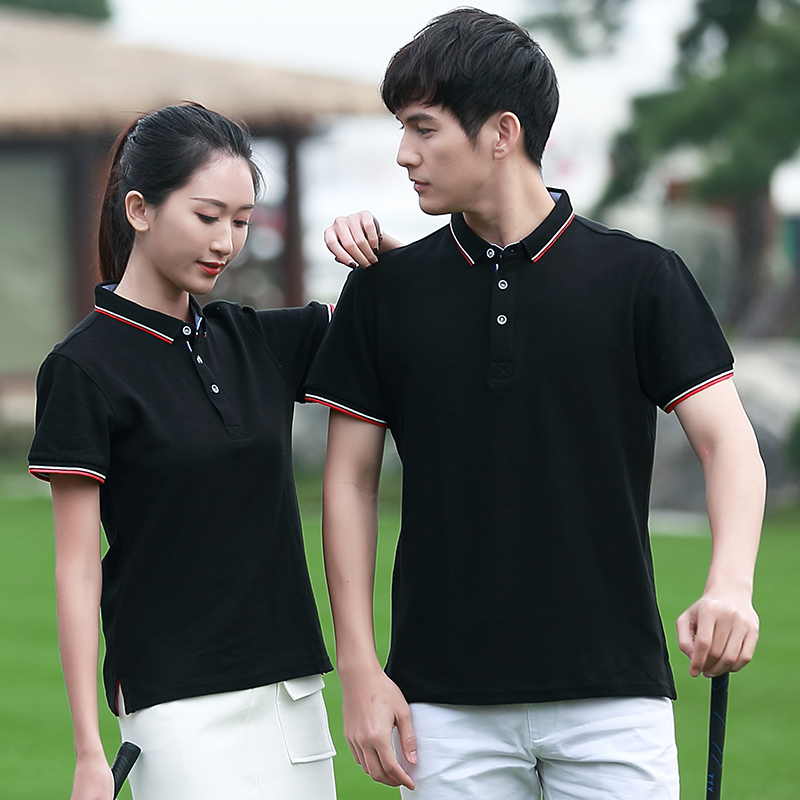 Short sleeve polo shirt customized work clothes T-shirt printing mens and womens solid color enterprise work clothes advertisement cultural shirt logo