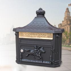 欧式别墅小区邮箱复古带锁信箱室外信报箱挂墙防雨水创意家用邮筒