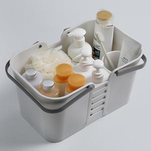 手提洗澡篮子浴室小浴筐澡堂塑料沐浴洗漱篮置物篮收纳筐洗浴篮