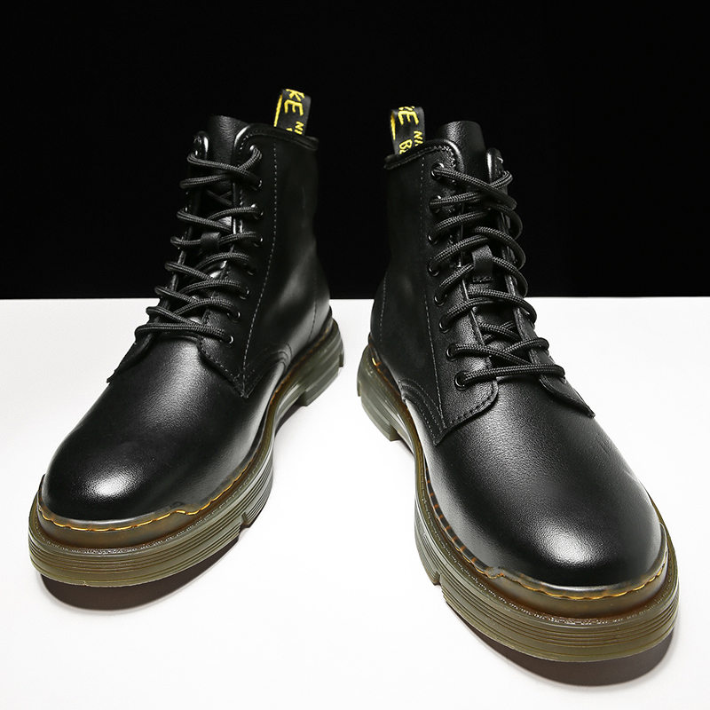 Martin boots mens middle class workers boots British locomotive versatile high top cotton shoes snow boots mens autumn leather boots