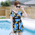 Swimsuit female summer split conservative cover belly slim skirt style large size middle-aged mother middle-aged and elderly hot spring swimsuit