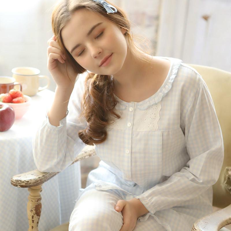 梦蜜纯棉纱布月子服春夏季孕妇睡衣薄产妇哺乳期喂奶衣产后家居服11月10日最新优惠