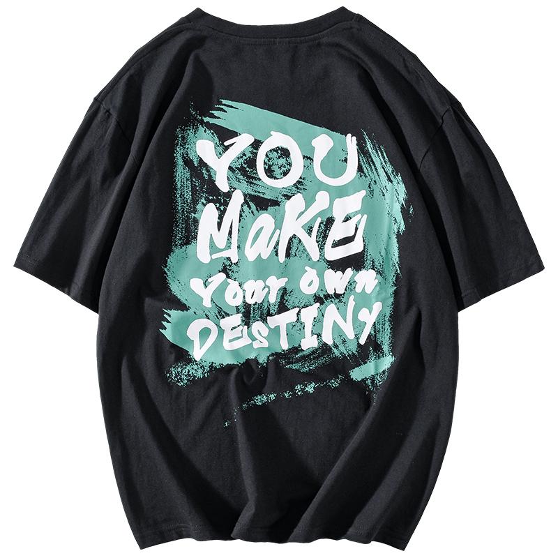 短袖男女嘻哈潮流字母印花潮牌t恤评价如何?