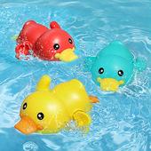 宝宝洗澡玩具戏水小黄鸭婴儿游泳喷水鸭子儿童沐浴男孩女孩抖音款