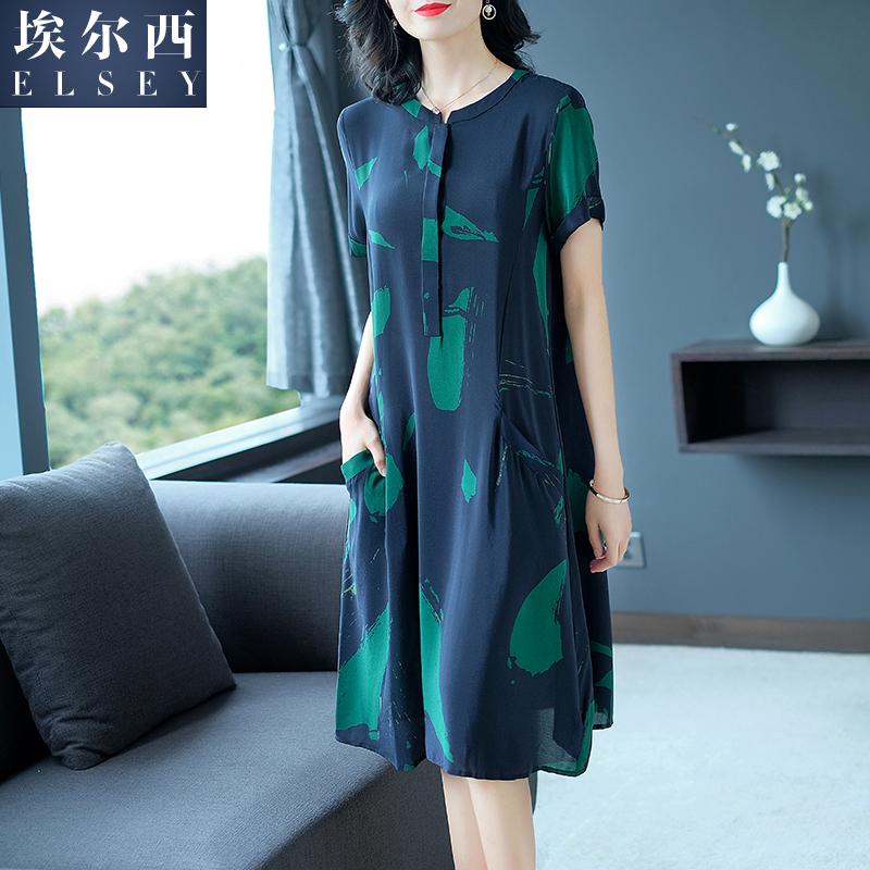 棉绸连衣裙2018新款韩版夏季显瘦中长款35-45宽松裙子气质女人味