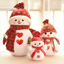 Christmas decoration Snowman doll decorations glass window decoration prop Christmas Snowman a Christmas tree