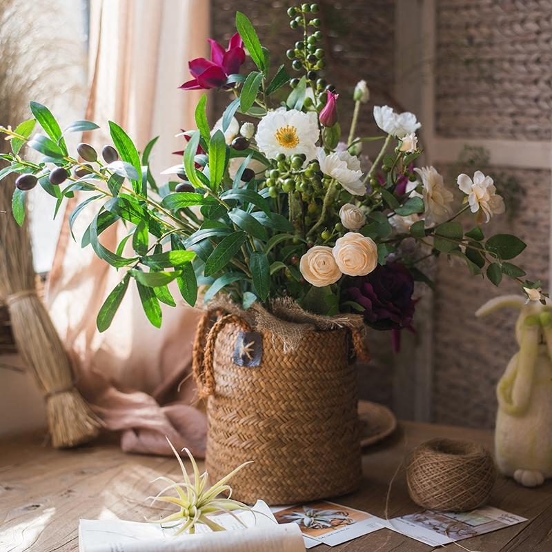 艾汀设计师花束仿真花艺套装摆件装饰新娘手捧花桌花礼物掬涵
