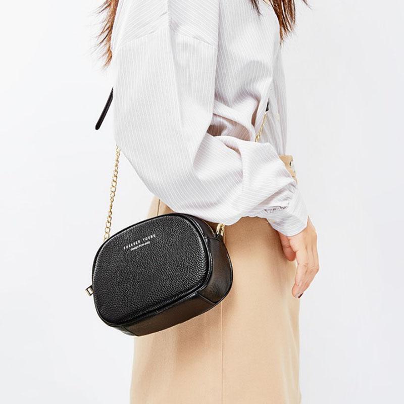 真皮小圆包女2020夏季新款时尚百搭牛皮贝壳包网红明星单肩斜挎包