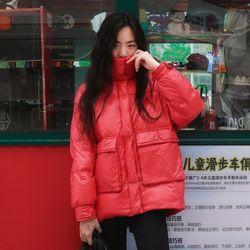 反季清仓羽绒服2020年新款女短款韩版白鸭绒小个子亮面面包服特卖