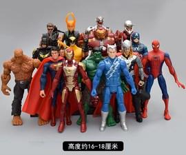可动复仇者联盟2玩具人偶模型美国队长雷神3蜘蛛侠钢铁侠手办公仔