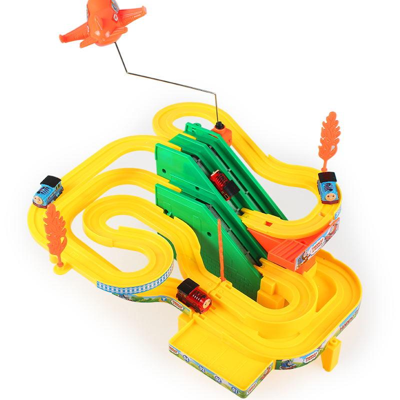 兒童玩具急極速小火車頭套裝電動火車軌道車軌道賽車男孩汽車玩具