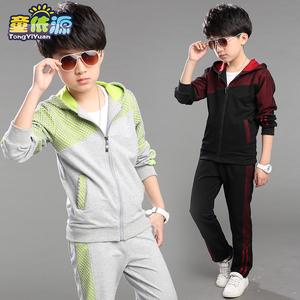 童装男童春装新款儿童两件套长袖开衫休闲中大童运动套装