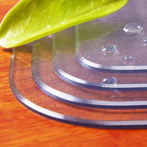 pvc软玻璃磨砂透明茶几垫餐桌垫