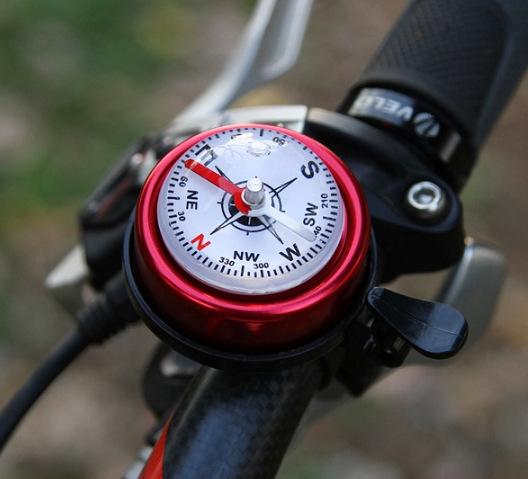 正品户外运动骑行装备通用公路单山地折叠大号指南针自行车铃铛