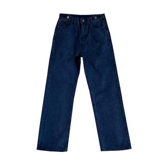 大碼牛仔褲女洋氣灰微胖女孩穿搭遮腿胖高腰寬鬆闊腿褲直筒褲顯瘦