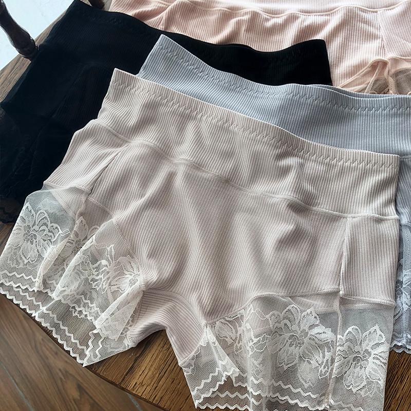 (用34元券)2条装蕾丝防走光无痕平角裤打底裤