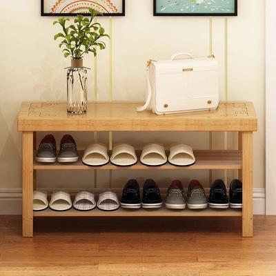 鞋架简易家用鞋柜经济型省空间换鞋凳防尘多层门口实木可坐小鞋架