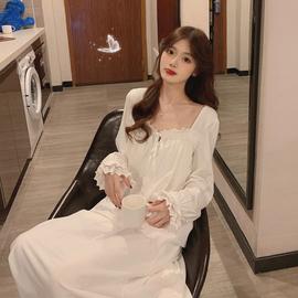 睡裙睡衣女春秋季冬2020新款超仙日系甜美长款白色长袖私房家居服